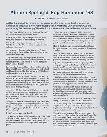 Page 34 of Alumni Spotlight: Kay Hammond '68