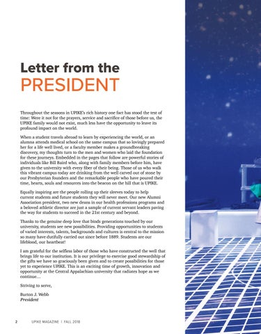 Page 4 of Letter from the President