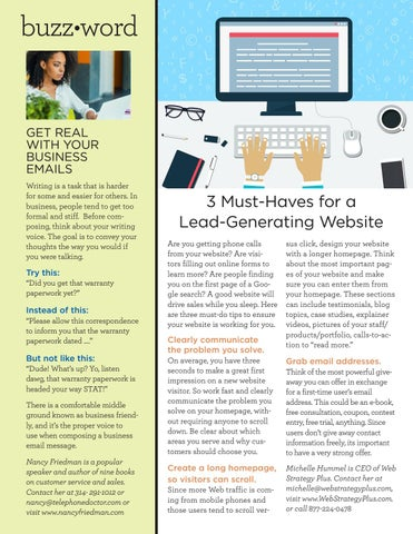 Page 20 of 3 must haves for a lead-generating website