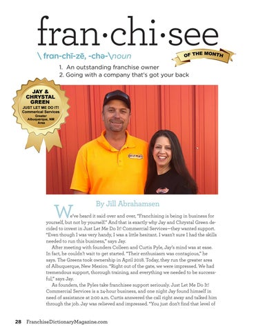 Page 28 of Franchisee of the Month