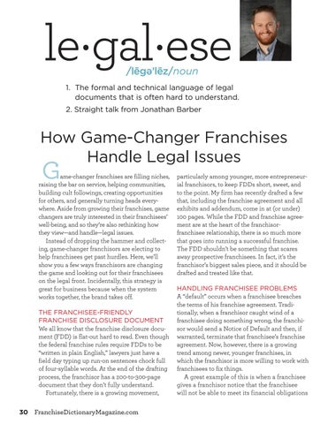 Page 30 of How game-changer franchises handle legal issues
