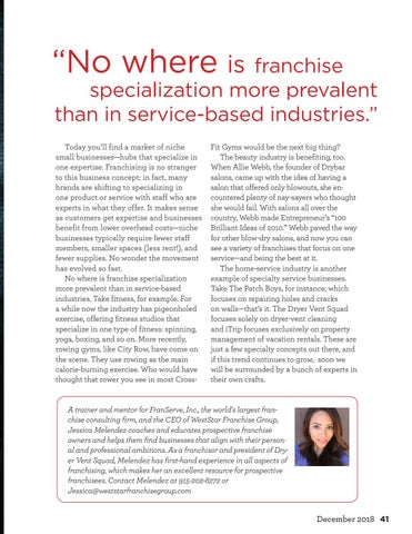 Page 41 of Specializing...and how it's changing franchising