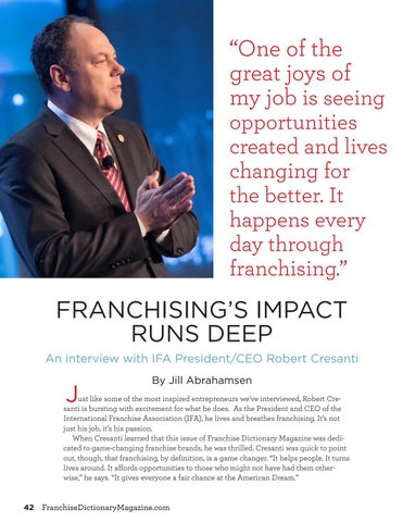 Page 42 of Franchising's Impact Runs Deep
