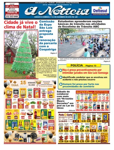 Dia e 1 e 2 de dezembro de 2018 by Jornal A Notícia - issuu 0c3c790e27