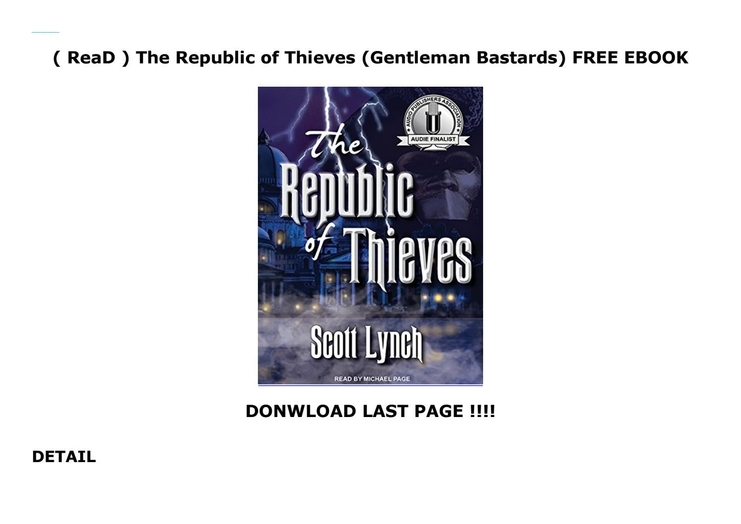Read   The Republic Of Thieves  Gentleman Bastards  Free
