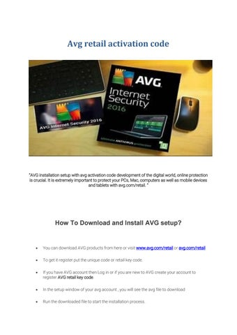 avg retail activation code