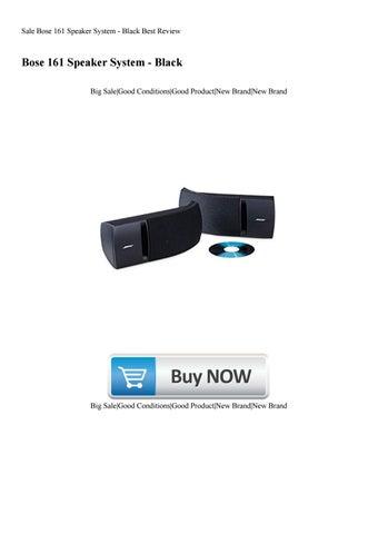 Bose 161 Speaker System Pair Black Brand New