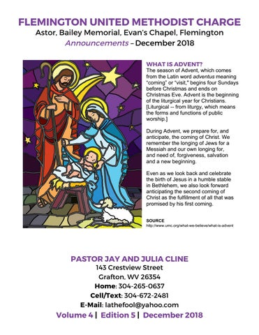 Flemington United Methodist Charge December 2018 Announcements By