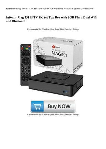 Sale Infomir Mag 351 IPTV 4K Set Top Box with 8GB Flash Dual Wifi