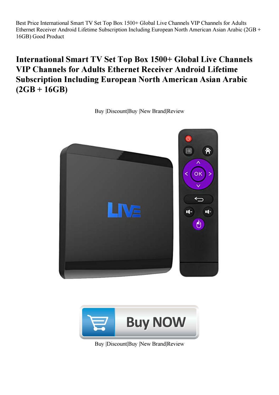 Best Price International Smart TV Set Top Box 1500+ Global
