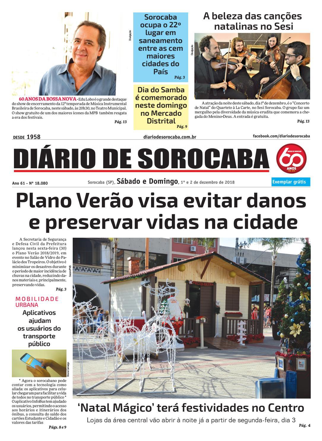Sábado, 1º de dezembro by DIÁRIO DE SOROCABA - issuu f2133f865e