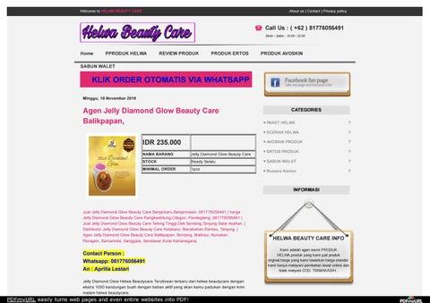 804e8301593 Agen Jelly Diamond Glow Beauty Care Balikpapan,