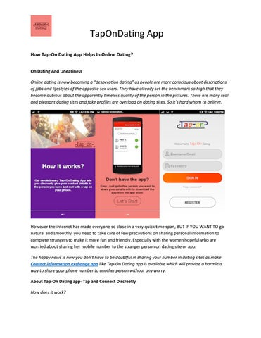Tap-Dating-Website
