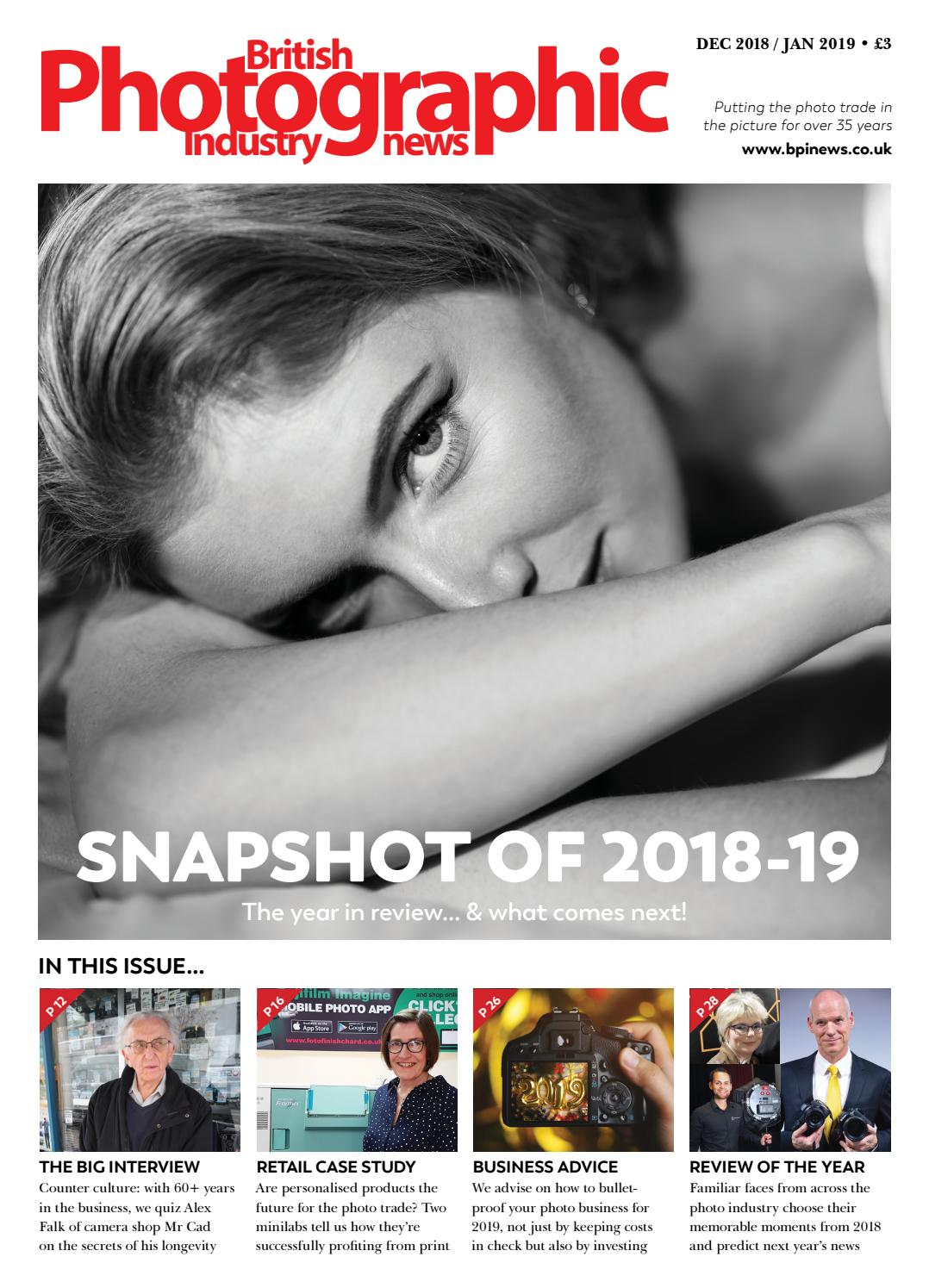 British Photographic Industry News December 2018 January 2019 by BPI