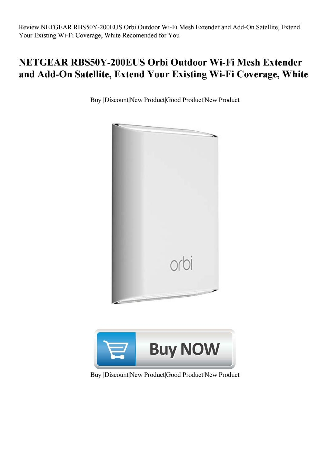 Review NETGEAR RBS50Y-200EUS Orbi Outdoor Wi-Fi Mesh