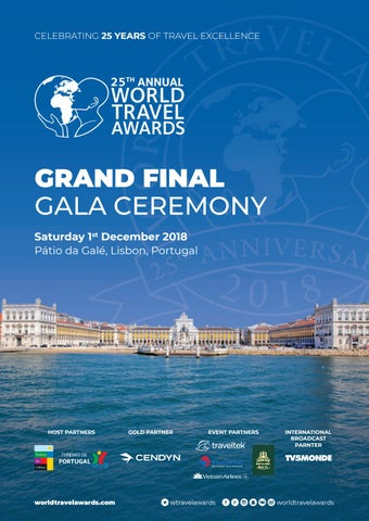 World Travel Awards Grand Final Gala Ceremony 2018 By World