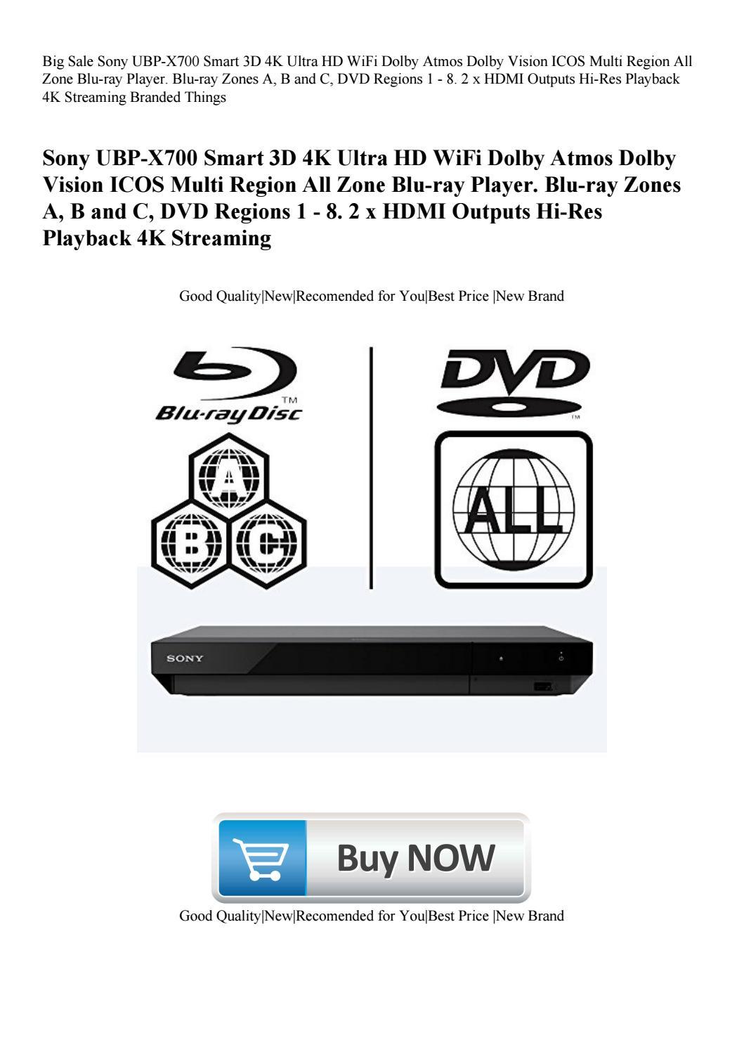 Big Sale Sony UBP-X700 Smart 3D 4K Ultra HD WiFi Dolby Atmos