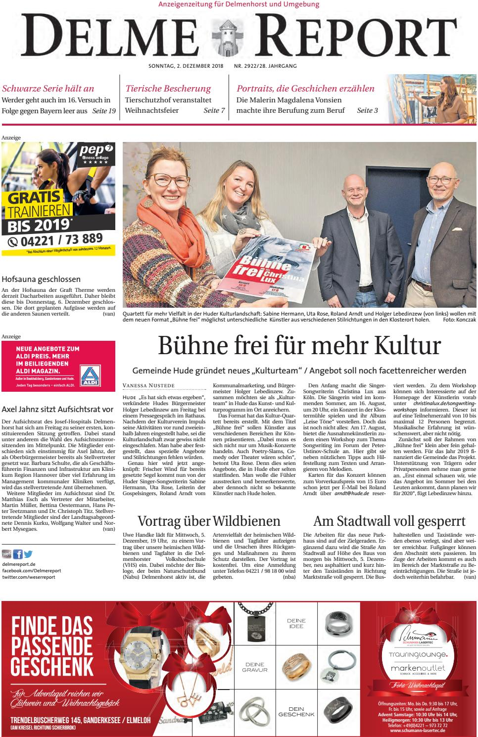 Delme Report vom 02.12.2018 by KPS Verlagsgesellschaft mbH - issuu