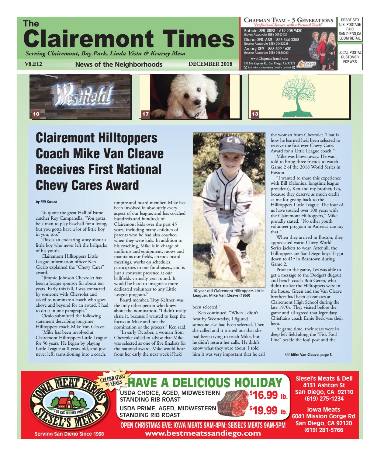 The Clairemont Times December 2018 by Clairemont Times - issuu