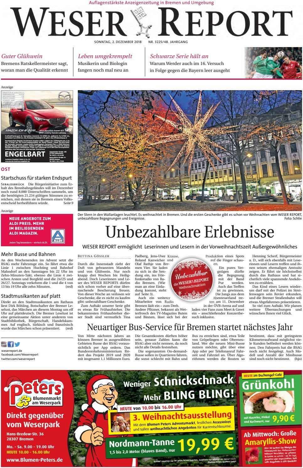 Weser Report Ost vom 02.12.2018 by KPS Verlagsgesellschaft