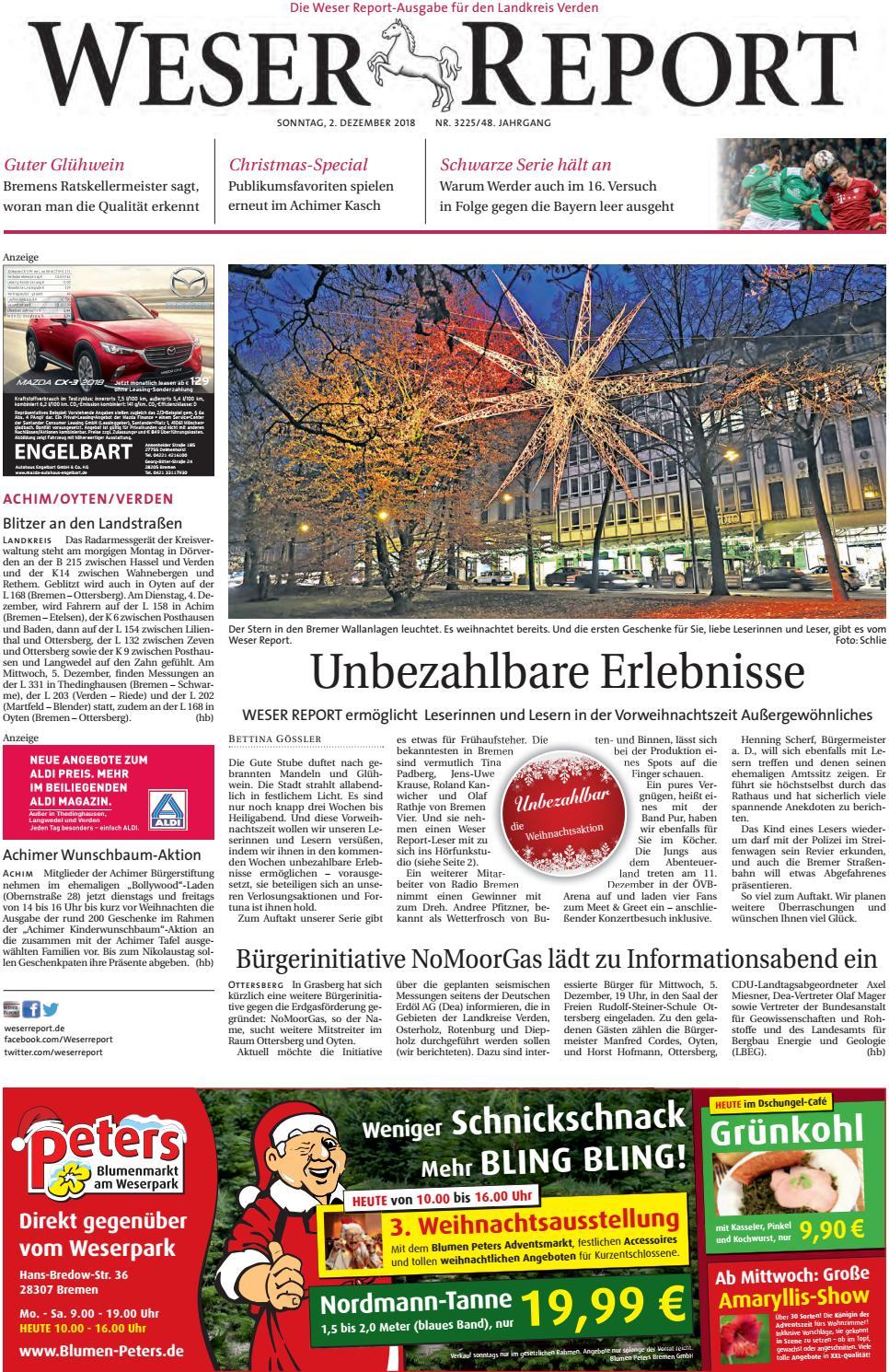 Weser Report - Achim, Oyten, Verden vom 02.12.2018 by KPS ...