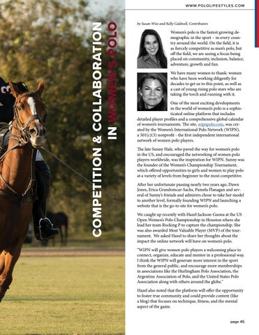 Page 45 of Competition & Collaboration in Women's Polo