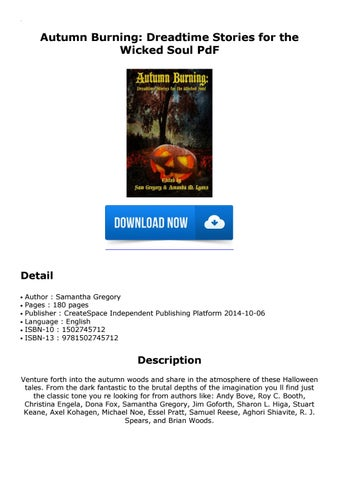 Autumn Burning: Dreadtime Stories for the Wicked Soul PdF by