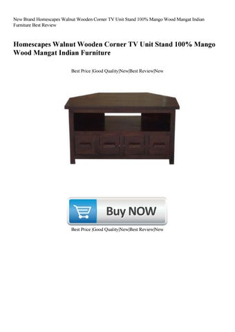 New Brand Homescapes Walnut Wooden