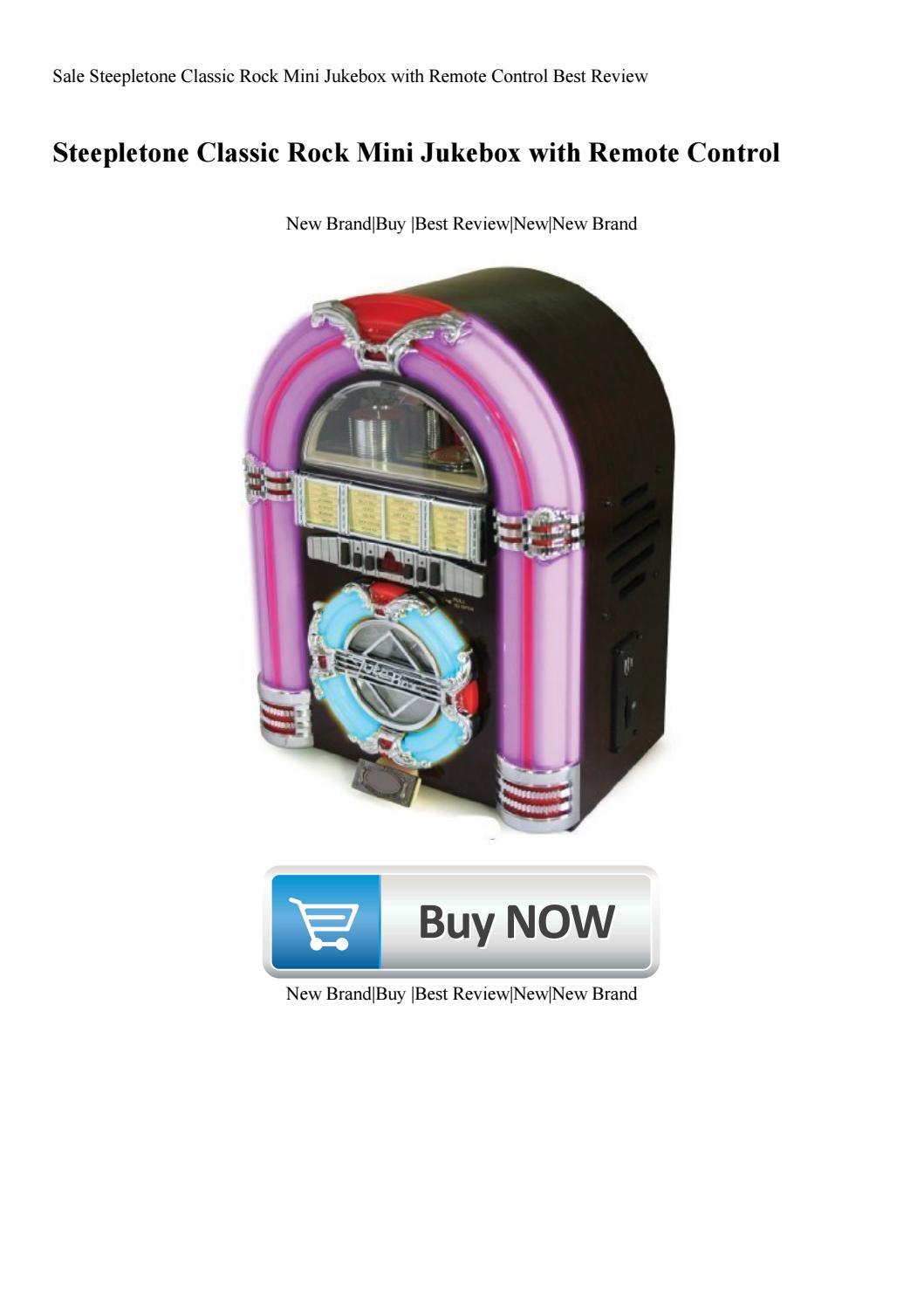 Sale Steepletone Classic Rock Mini Jukebox with Remote