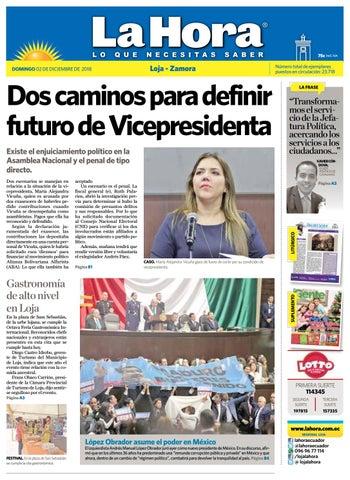 2774caca20dc8 Diario La Hora Loja 02 de Diciembre 2018 by Diario La Hora Ecuador ...