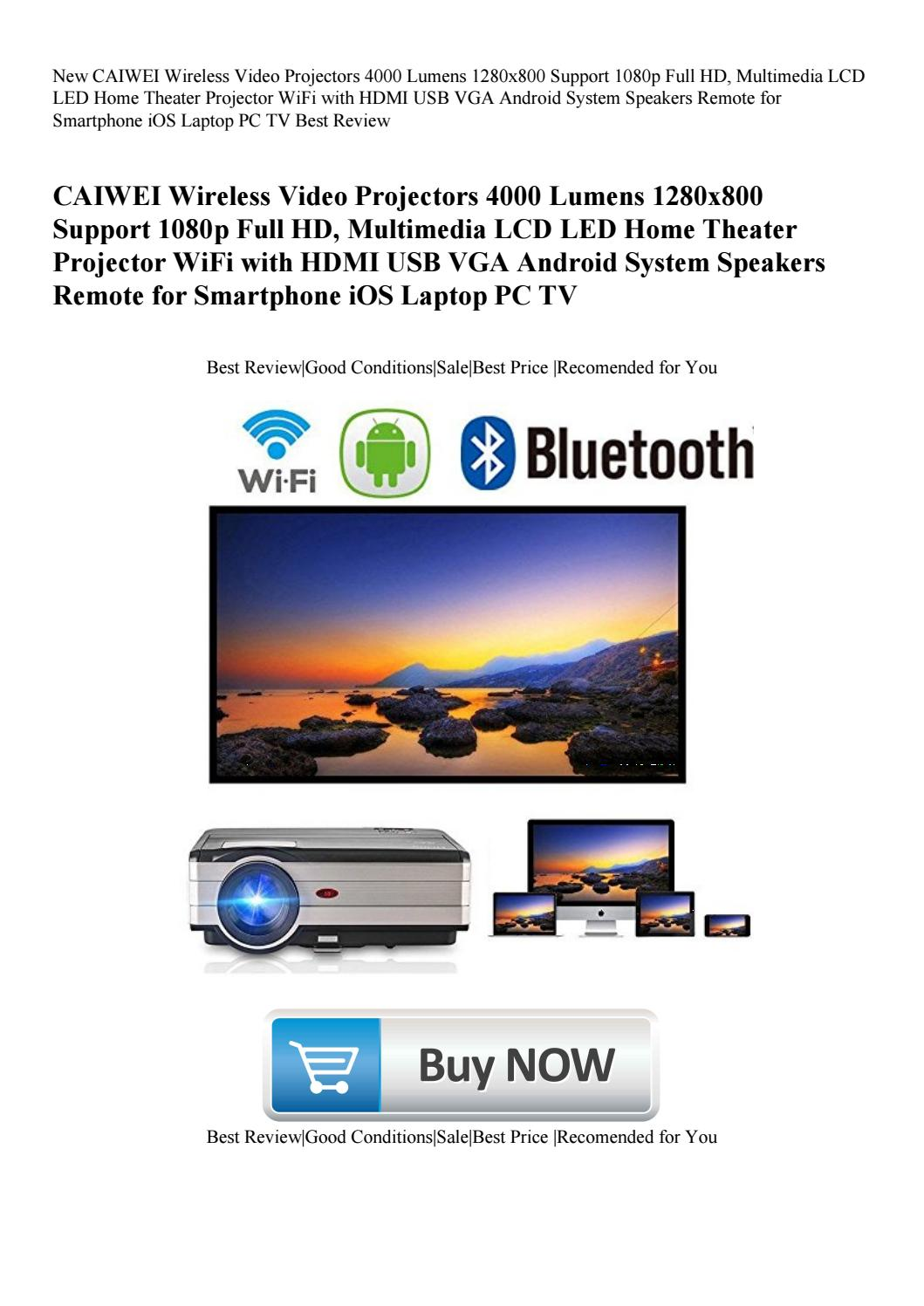 New CAIWEI Wireless Video Projectors 4000 Lumens 1280x800
