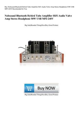 Buy Nobsound Bluetooth Hybird Tube Amplifier HiFi Audio Valve Amp Stereo  Headphone 50W USB MP3 240V
