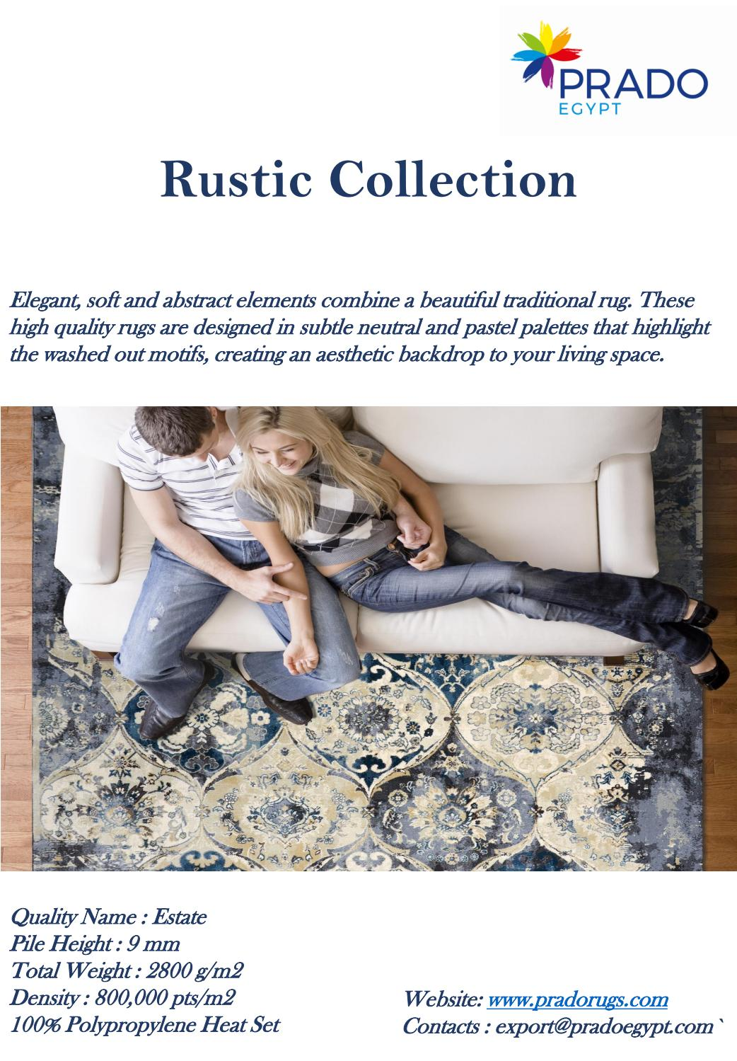 Prado Rugs Rustic Collection 2019 By