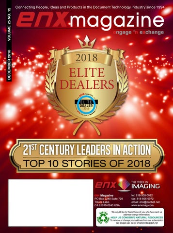 ENX Magazine December 2018 Elite Dealer issue by ENX