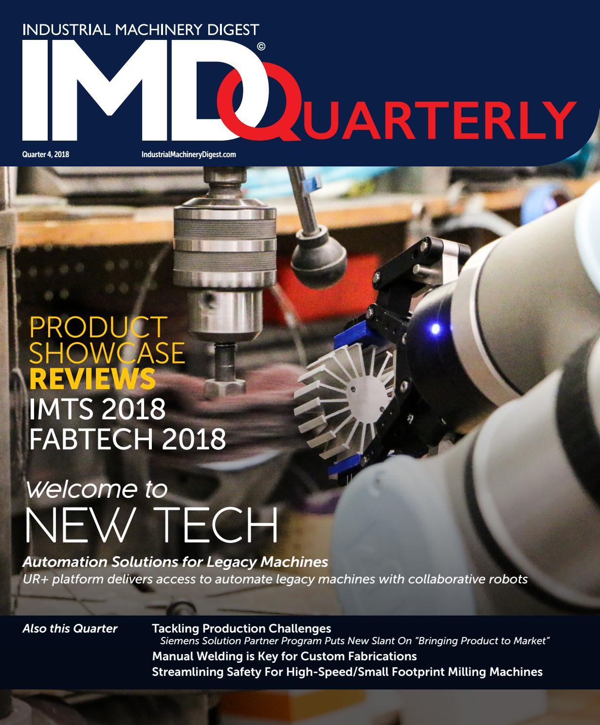 Industrial Machinery Digest Quarterly - IMD Quarter 4, 2018