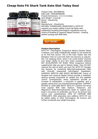 Keto Fit Shark Tank Keto Diet Today Deal By Helensexton12 Issuu