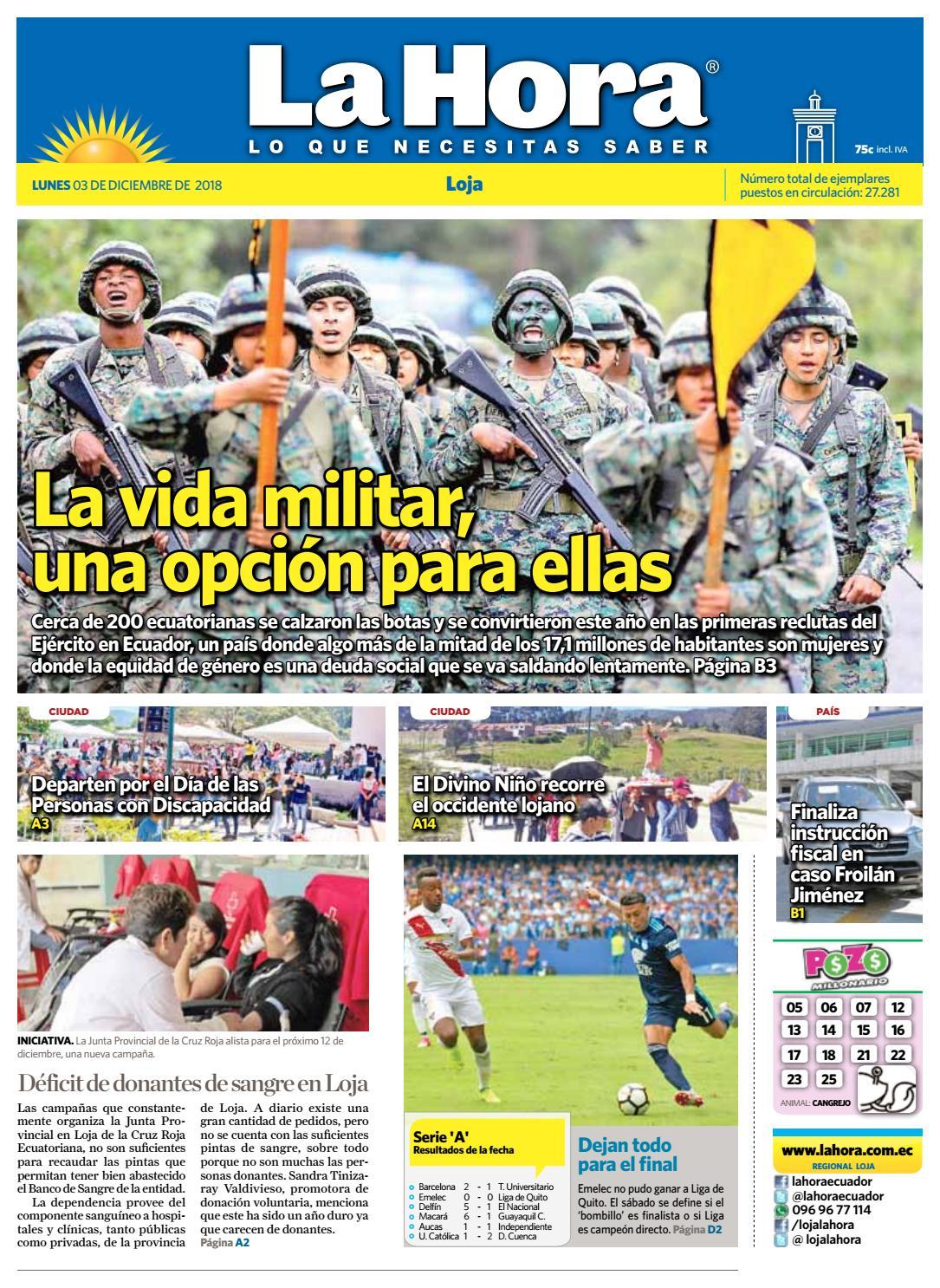 cf88cdcf752a9 Diario La Hora Loja 03 de Diciembre 2018.pdf by Diario La Hora Ecuador -  issuu