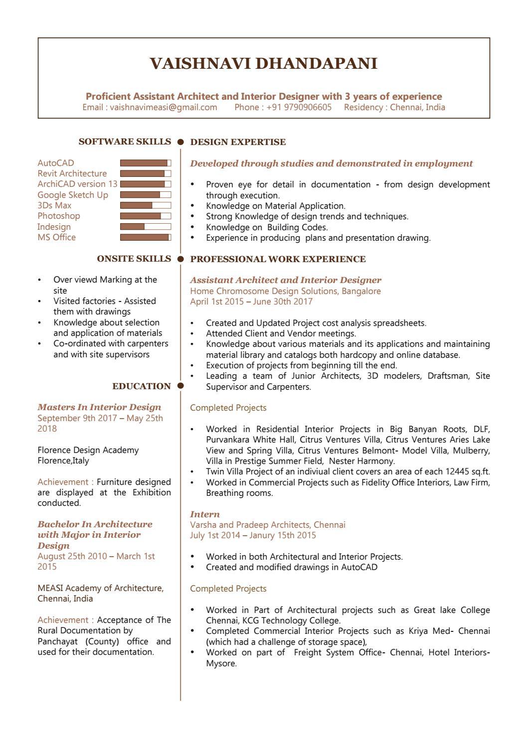 Vaishnavi Dhandapani Resume by vaishnavi d - issuu
