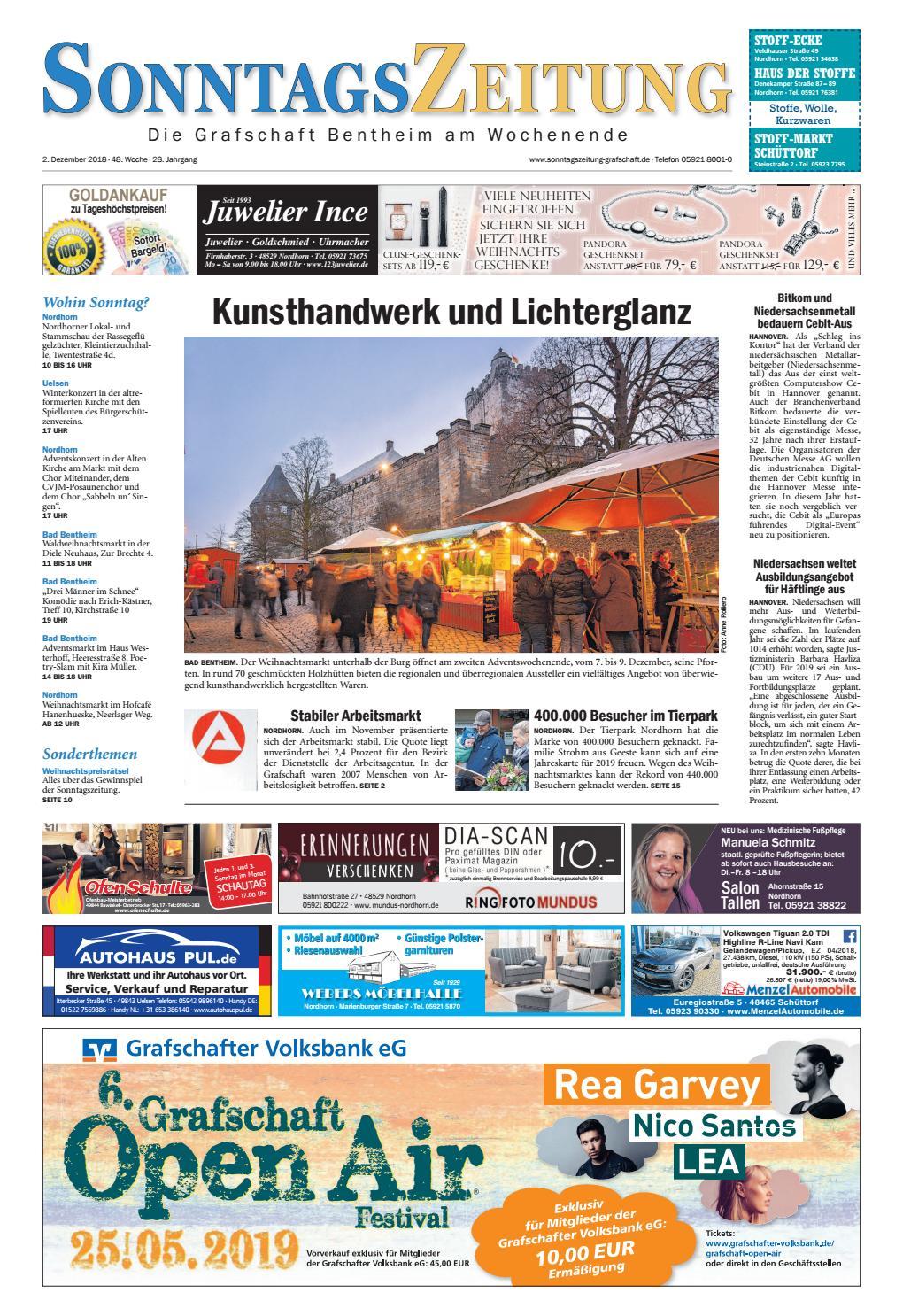 Sonntagszeitung02 12 2018 By Grafschafter Nachrichten Issuu