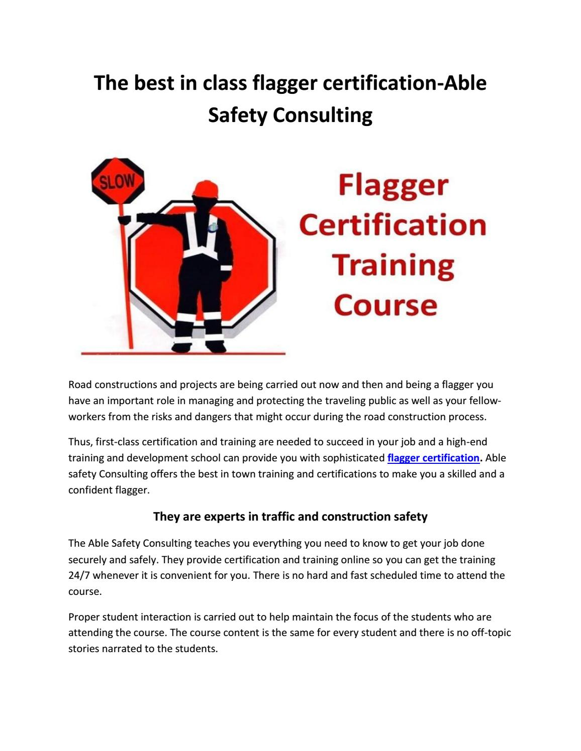 Flagger Certification Course By Flagger Online Issuu
