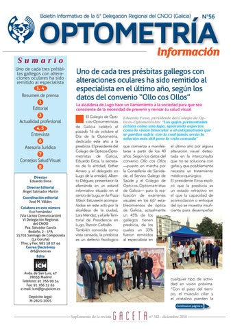 e43a7660c3 Boletin informatvo Colegio de Ópticos-Optometristas de Galicia ...