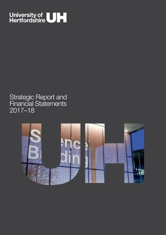 Strategic Report and Financial Statements 2017-18 by University of