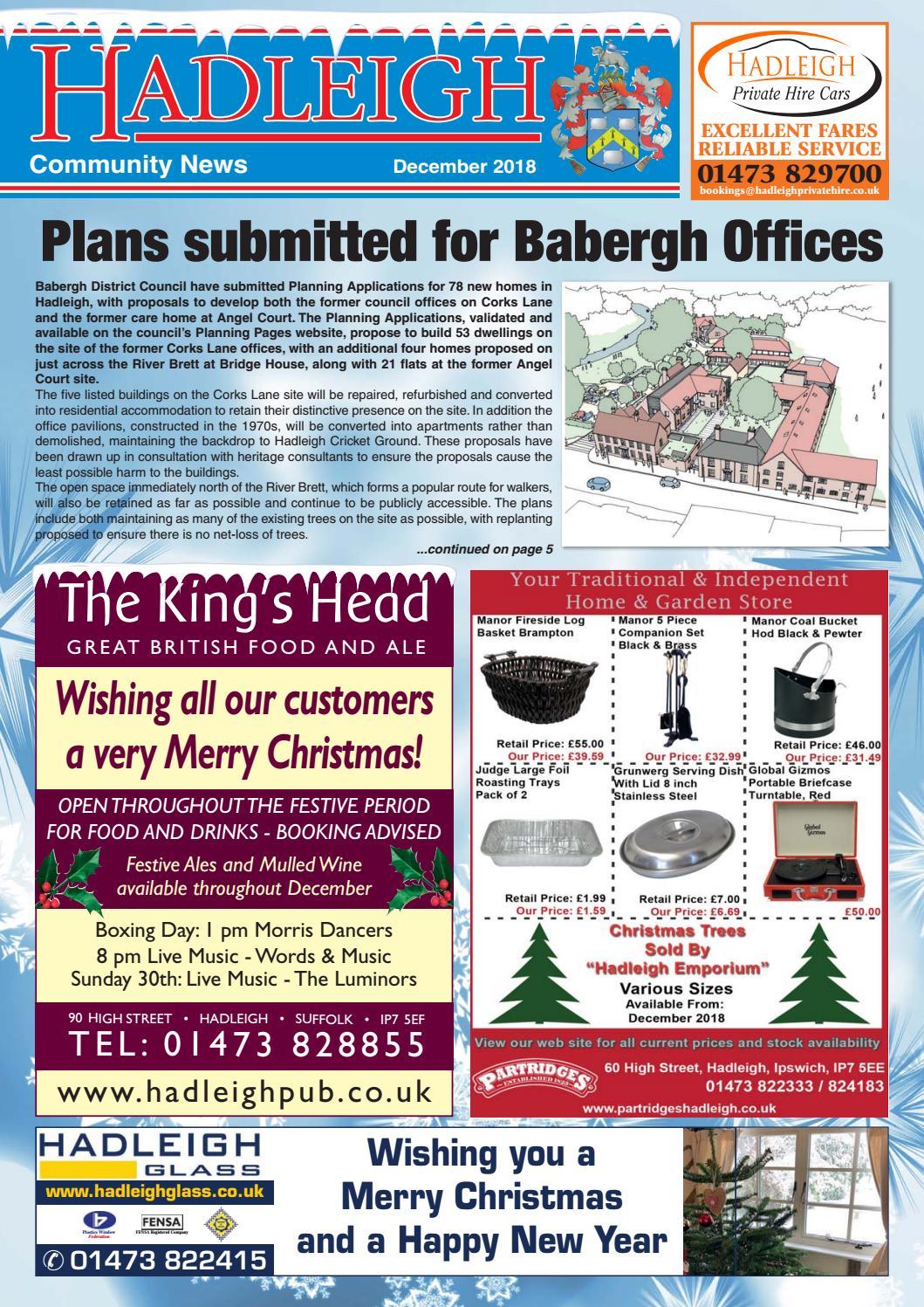 Hadleigh Community News, December 2018 by Keith Avis