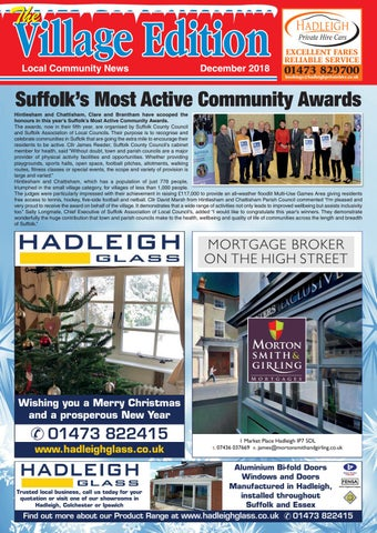 The village edition december 2018 by keith avis printers issuu