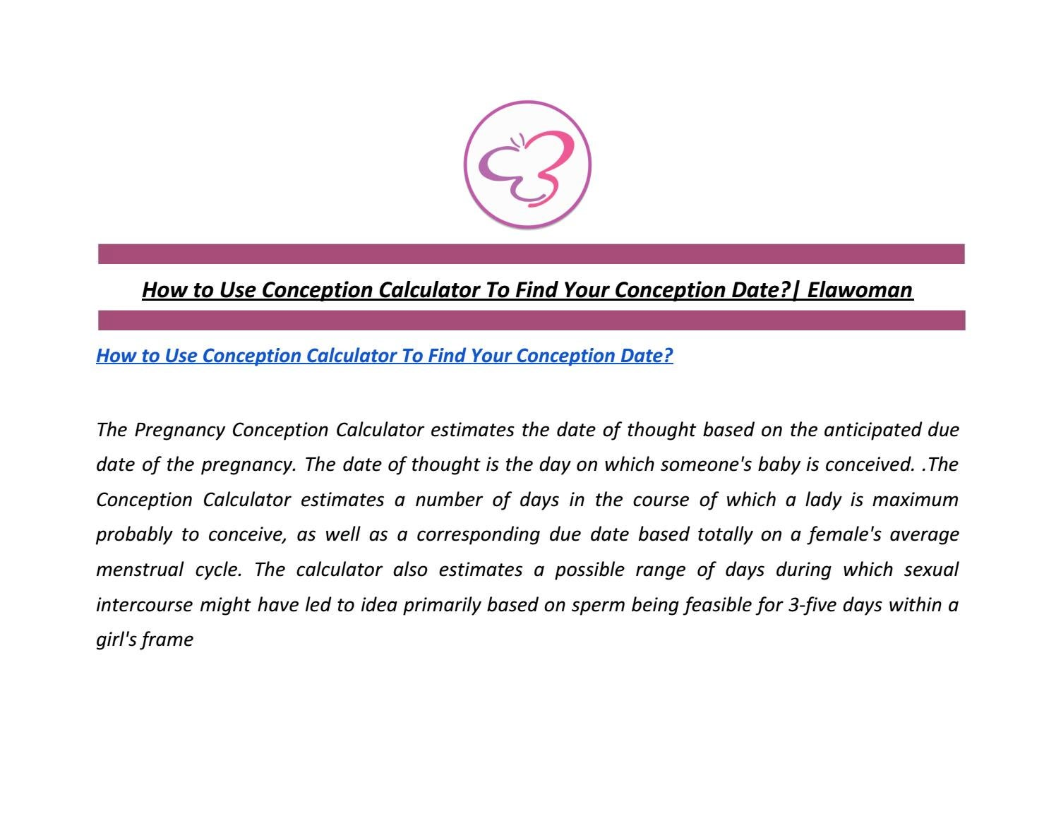 Milenium Home Tips: When Is Conception Date