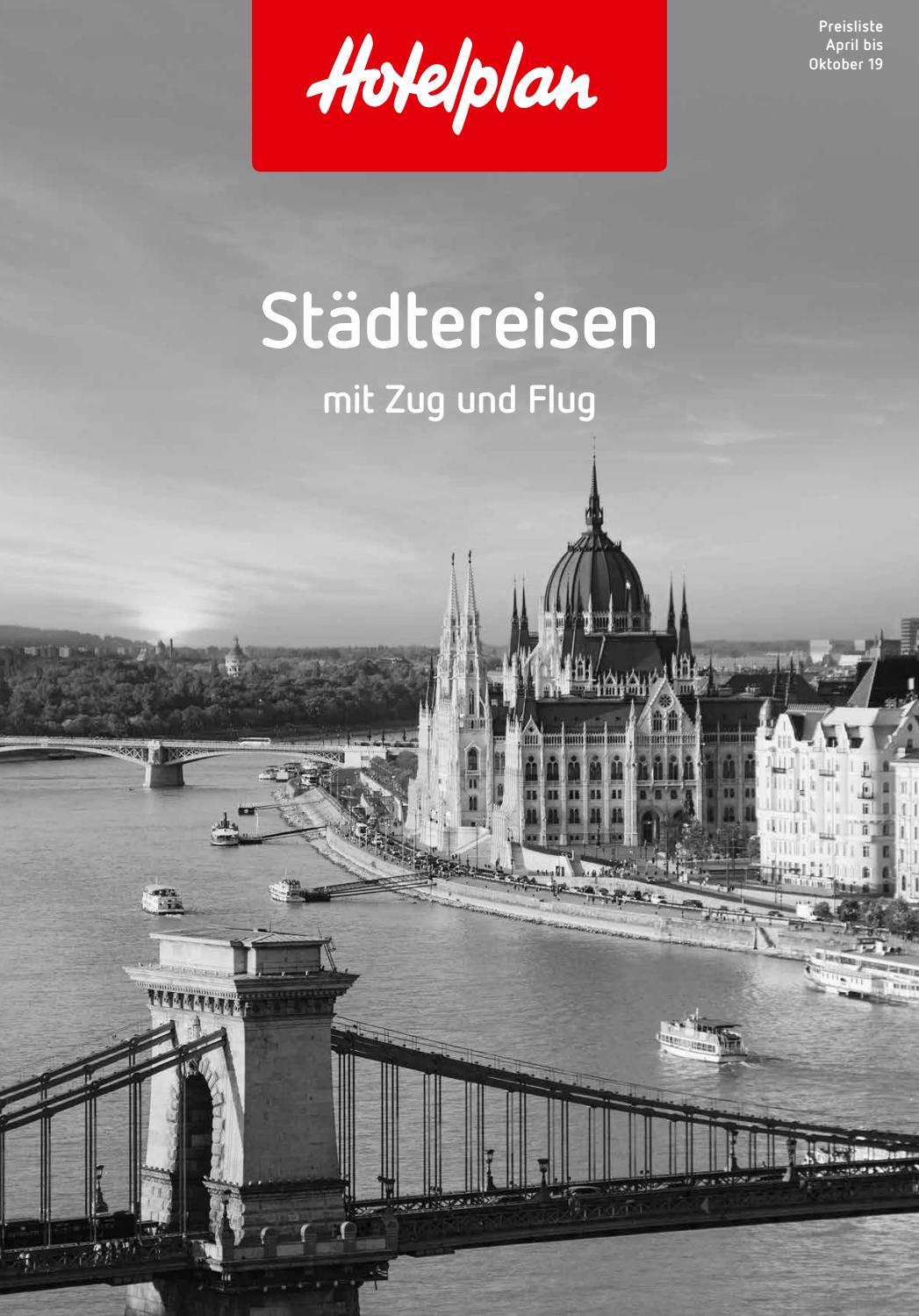Preisliste hotelplan städtereisen april bis oktober 2019 by hotelplan suisse mtch ag issuu