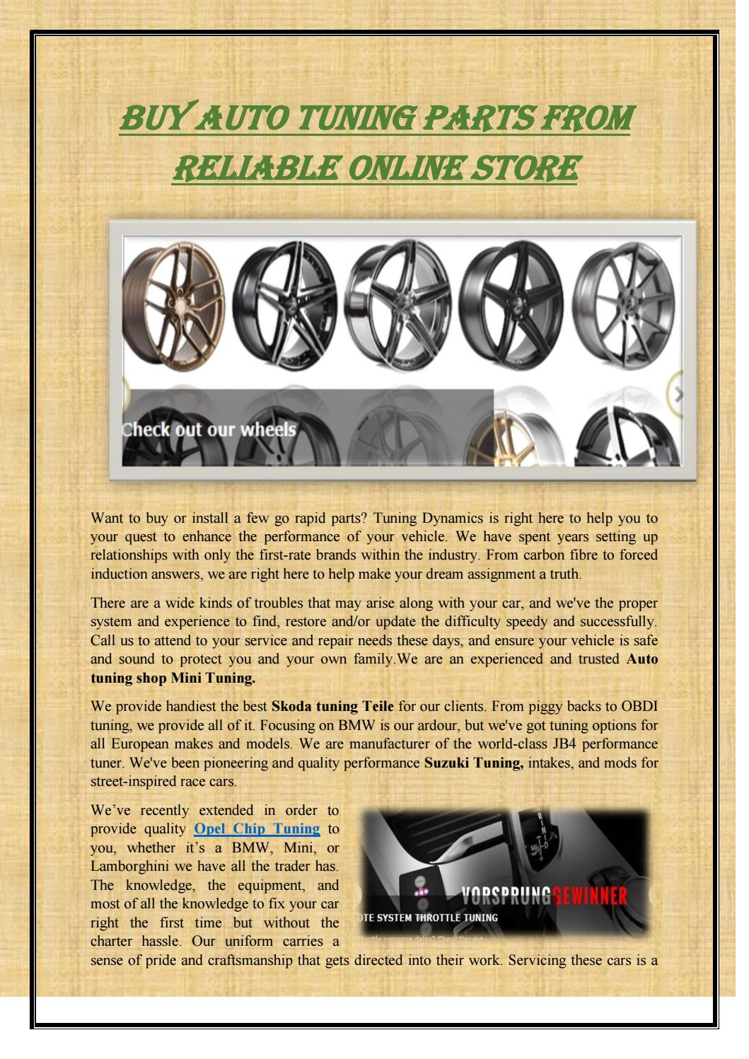 Buy Auto Tuning Parts From Reliable Online Store By Swisstuning Issuu