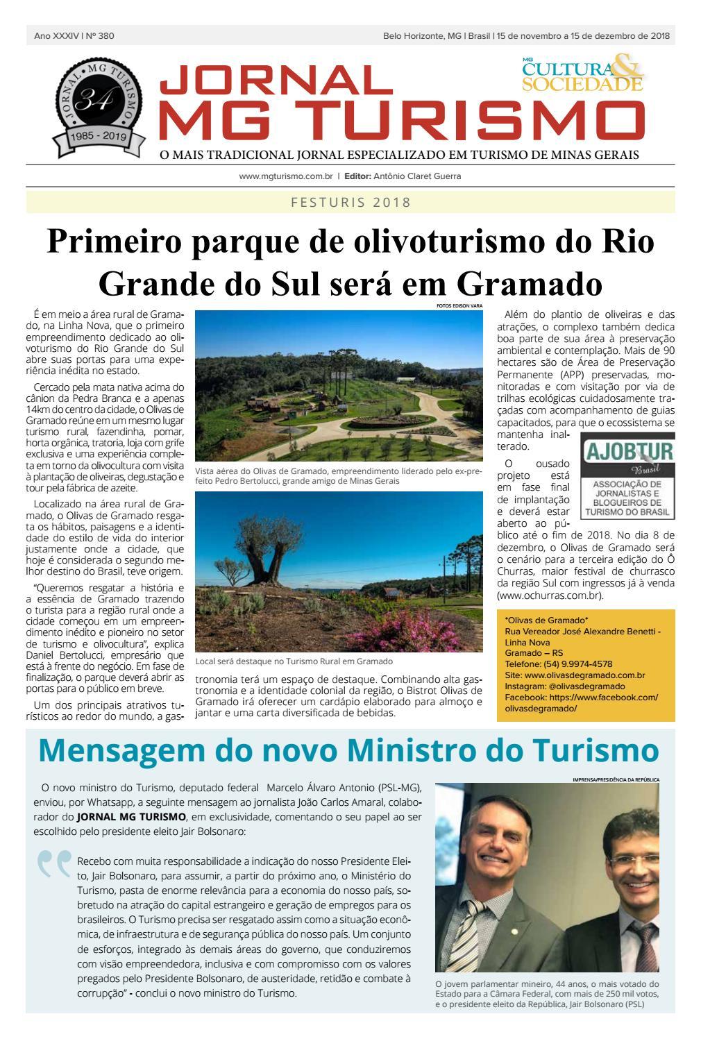 Jornal MGTurismo - Edição 380 - Dezembro 2018 by JORNAL MG TURISMO - issuu c35a31ffd67d2