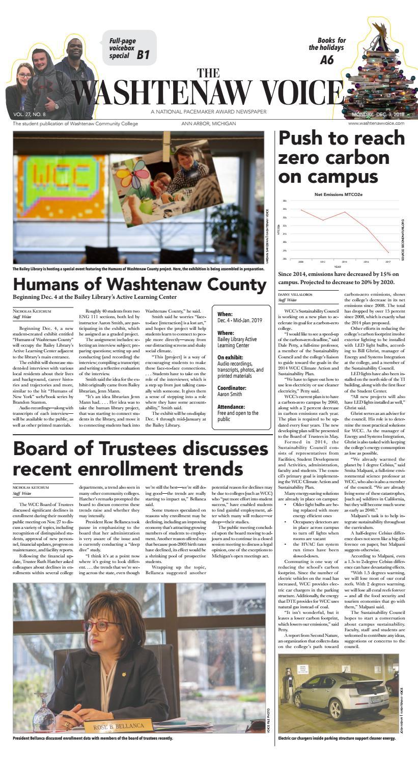 The Washtenaw Voice 12-03-2018 by The Washtenaw Voice - issuu
