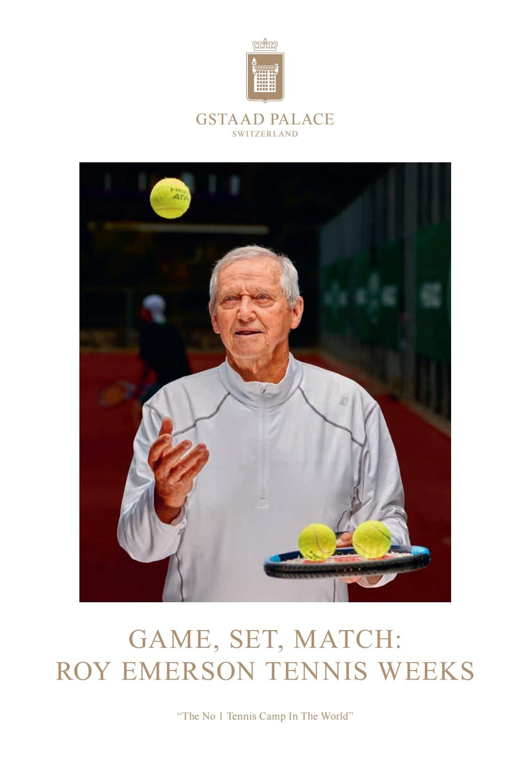 Roy Emerson Tennis Weeks 2019 by Gstaad Palace - issuu
